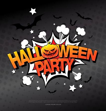 october 31: Halloween party. Vector illustration