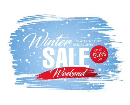Winter sale banner template design, vector illustration