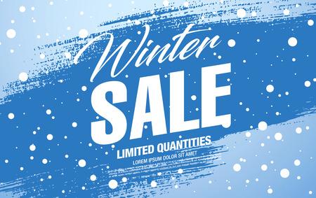 Winter sale banner template design, vector illustration