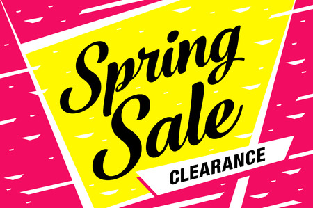 Spring sale banner template design. 일러스트