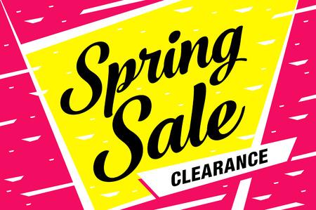 Spring sale banner template design. Ilustrace