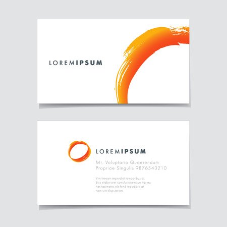 abstract creative business cards, vector template design Stock Illustratie