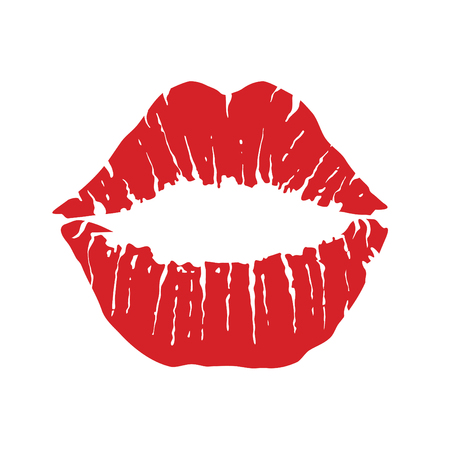 Lippen pictogram. Kiss pictogram. Rode lippen, vectorillustratie
