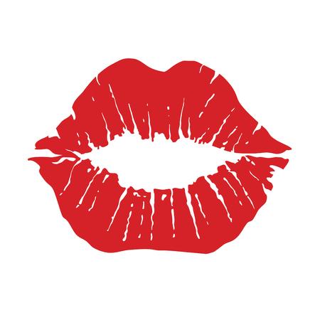입술 아이콘입니다. 키스 아이콘입니다. 붉은 입술, 벡터 일러스트 레이 션