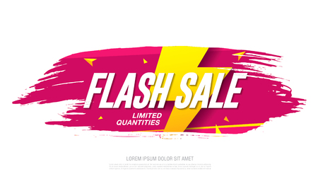 Flash sale banner template design Vectores