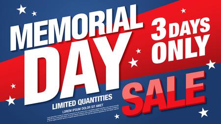 memorial day sale banner layout design