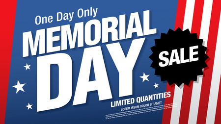 memorial day sale banner layout design 免版税图像 - 101081770