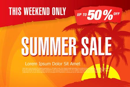 summer sale banner layout
