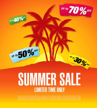 Summer sale banner template vector design