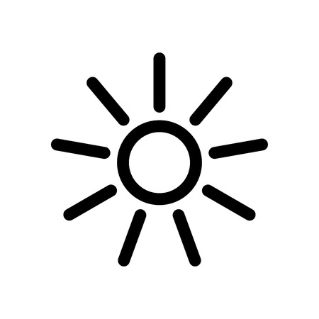 sun vector icon design Illustration