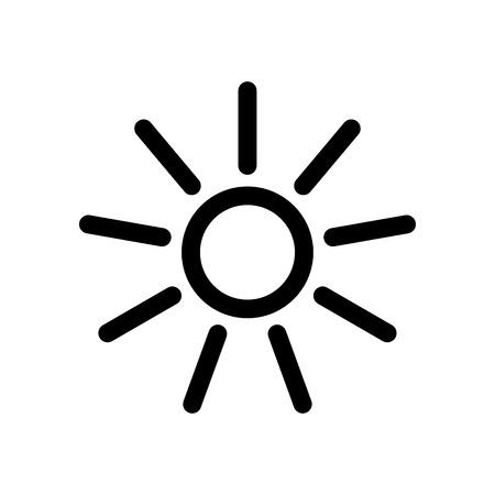 sun vector icon design Stock Illustratie