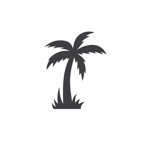 palm tree sign, vector ilustration