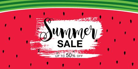 summer sale banner layout design