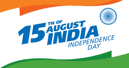 Sale banner layout. Independence Day of India. 15 th of August. Vector illustration