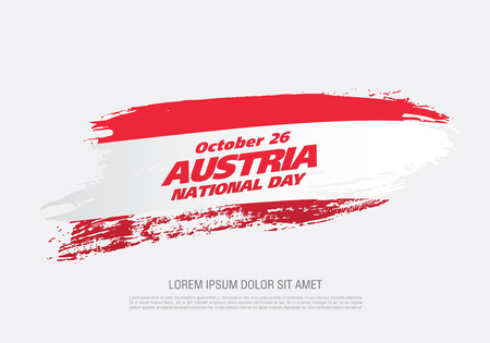 Flag of Austria, National day, October 26, vector illustration