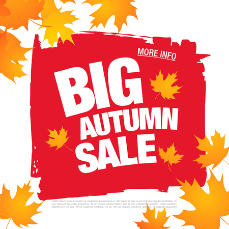 autumn sale banner layout design Ilustrace