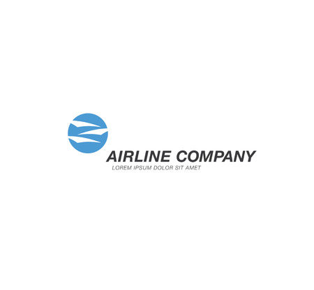 airlines  template design, vector illustration