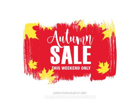 autumn sale banner design Illustration