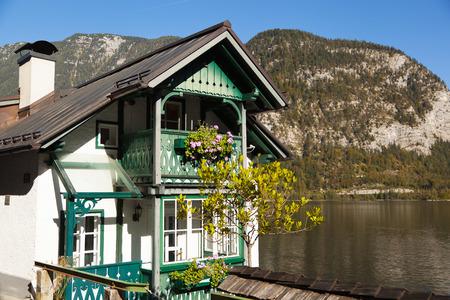 Surroundings in the village of Hallstatt in autumn 版權商用圖片