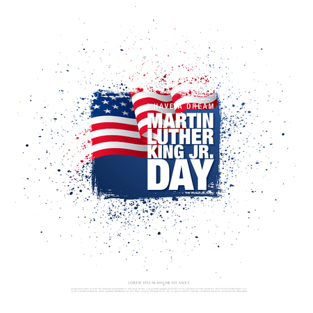 martin luther king day banner layout design