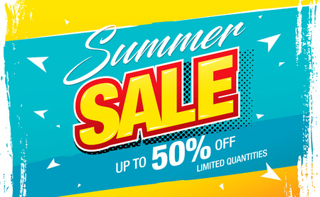 summer sale banner layout design vector illustration