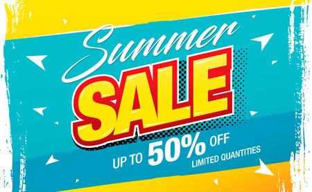 zomer verkoop banner lay-out ontwerp vectorillustratie