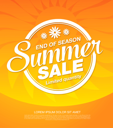 progettazione del layout banner vendita estiva