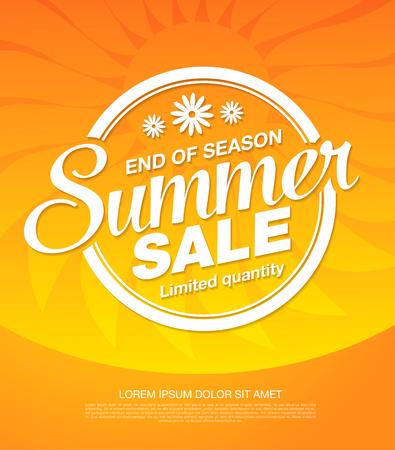 zomer verkoop banner lay-outontwerp