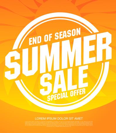 conception de mise en page de bannière de vente d'été Vecteurs
