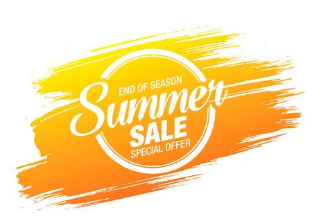 conception de mise en page de bannière de vente d'été