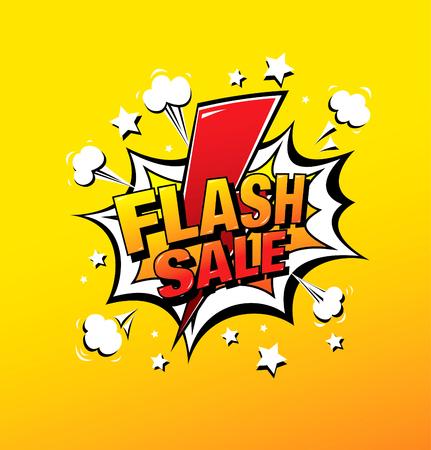 Diseño de banner de venta flash, ilustración vectorial