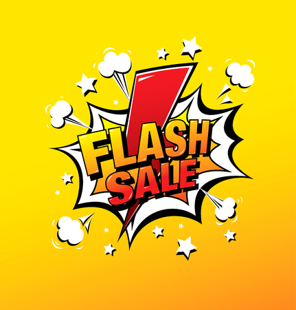 flash sale banner layout design, vector illustration