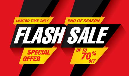 diseño de banner de venta flash Ilustración de vector