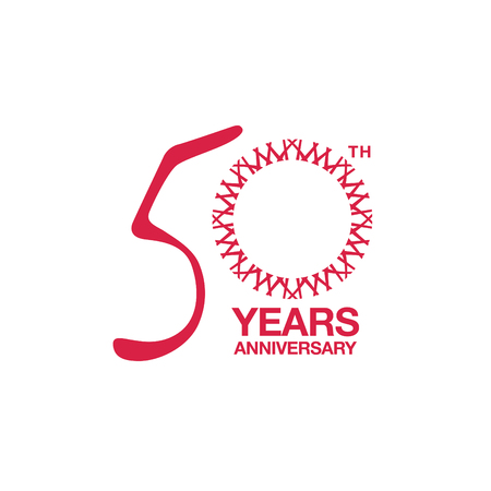 50-jähriges Jubiläums-Emblem. Symbol für die Feier zum 50-jährigen Jubiläum Vektorgrafik