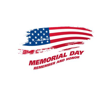Memorial day. Remember and honor. Ilustração Vetorial