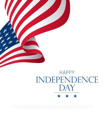 independence day banner layout design Ilustración de vector