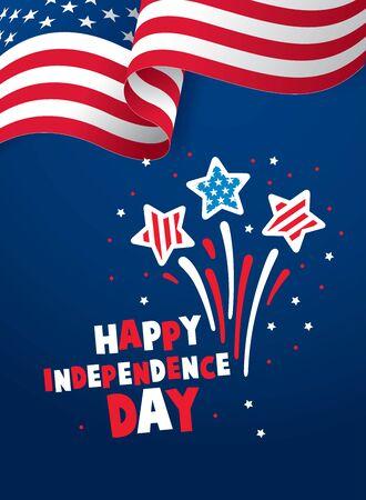 disegno del layout banner giorno dell'indipendenza