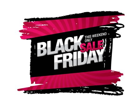 black friday sale banner layout design 免版税图像 - 125253476