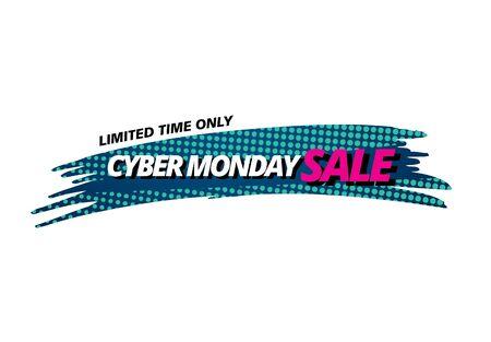 cyber monday sale banner layout design Illustration