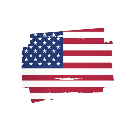 american flag made in a brush stroke background vector illustration Reklamní fotografie - 129932232