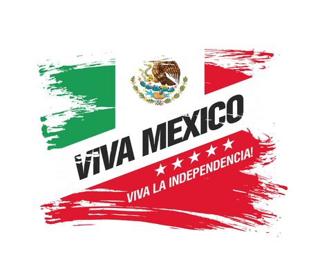 Mexican vector banner layout design.
