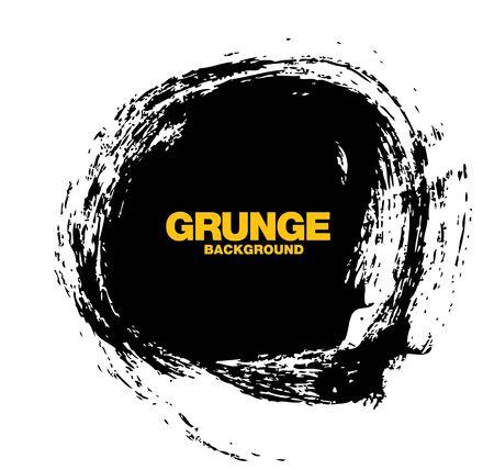 black circle grunge background vector illustration