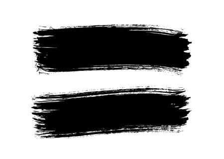 horizontal brush stroke stripes vector illustration Ilustração