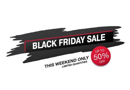 black friday sale banner layout design