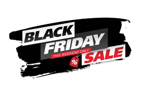 black friday sale banner layout design vector illustration Stockfoto - 129232190