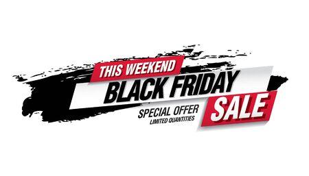 black friday sale banner layout design vector illustration Stockfoto - 129232197