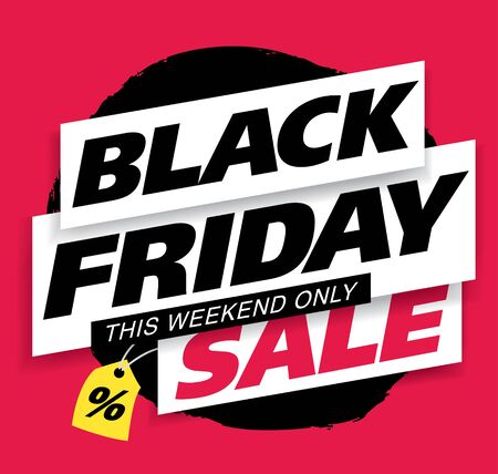 black friday sale banner layout design vector illustration Stockfoto - 129232195