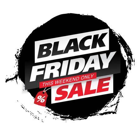 black friday sale banner layout design vector illustration