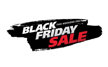 black friday sale banner layout design vector illustration Stockfoto - 129232364