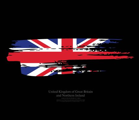Flag of the United Kingdom of Great Britain and Northern Ireland vector